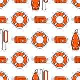 Lifeguard seamless pattern Stock Photos