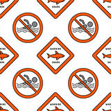 Lifeguard seamless pattern Stock Photo