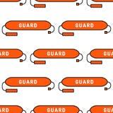 Lifeguard seamless pattern Royalty Free Stock Photography