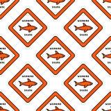 Lifeguard seamless pattern Royalty Free Stock Photo