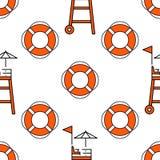 Lifeguard seamless pattern Stock Image