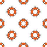 Lifeguard seamless pattern Royalty Free Stock Photos