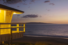 Lifeguard shack in Maui Royalty Free Stock Image