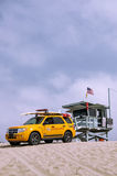 Lifeguard shacks royalty free stock photos