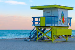 Lifeguard Shelter in Miami Royalty Free Stock Photo