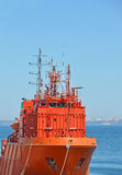 Lifeguard ship in port Stock Images