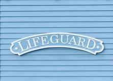 Lifeguard Sign Stock Photography