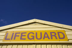 Lifeguard sign Stock Photography