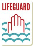 Lifeguard sign Royalty Free Stock Image