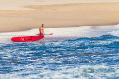 Lifeguard Ski Craft Beach Stock Images