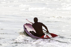 Lifeguard Surf-Ski Paddling  Stock Photos