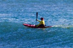Lifeguard Ski Paddling Ocean Stock Photos