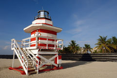 Lifeguard Stand. In South Beach Miami, Florida Stock Photo