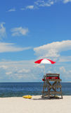 Lifeguard Stand on Beach Stock Photos
