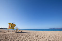 Lifeguard stand beach Stock Image