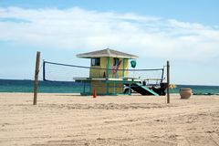Lifeguard stand on Dania Beach, in Fort Lauderdale, Florida Stock Images