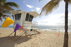 Lifeguard stand Fort Lauderdale Florida Royalty Free Stock Image