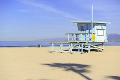 Lifeguard Stand In The Sand, Venice Beach, California Stock Images