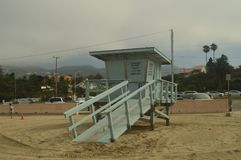Lifeguard Stand On Malibu Beach. Architecture Nature Landscape. July 4, 2017. Malibu California USA EEUU Stock Photo