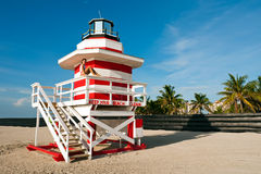 Lifeguard Stand in Miami Stock Photo