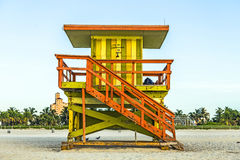 Lifeguard Stand in Miami Stock Images