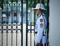 Lifeguard Standing security at the Grand Palace royalty free stock photography