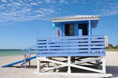 Lifeguard Station. On the Beach stock photo