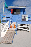 Lifeguard Station. On the Beach stock image