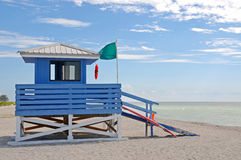 Lifeguard Station. Empty Lifeguard Station on the Beach stock photo