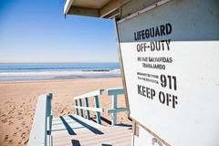 Lifeguard station. At the beach Stock Images