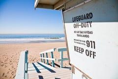 Lifeguard station Stock Images