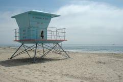 Lifeguard station. Santa Cruz Beach, California stock photo