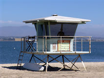 Lifeguard station. Lifeguard in station at Silver Stand beach in California Stock Images