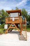 Lifeguard Station. On the Beach stock photos