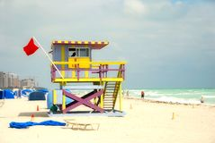 Lifeguard station Royalty Free Stock Photo