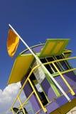 Lifeguard station. Miami beach, florida, america, usa stock photo