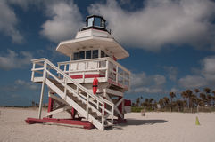 Lifeguard Station. On a tropical beach Royalty Free Stock Photography