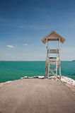 Lifeguard Station And Blue Sky.