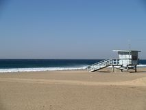 Lifeguard Station on beach Royalty Free Stock Photography