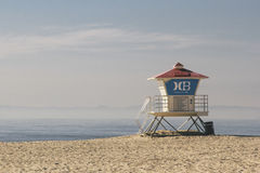 Lifeguard station on beach Royalty Free Stock Photo