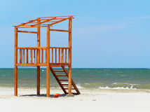Lifeguard station on the beach Stock Image