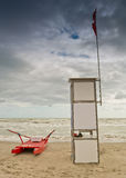 The lifeguard station stock photo