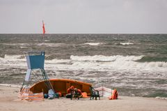 Lifeguards on the beach Royalty Free Stock Image