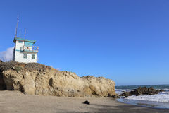 Lifeguard station at the beach. Lifeguard station at Leo Carrillo State Beach, Malibu California Royalty Free Stock Image