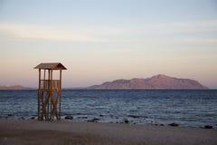 Lifeguard station on the beach, Sharm el Sheikh, Sinai, Egypt.  stock photography