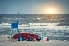 Lifeguards on the beach Stock Photos