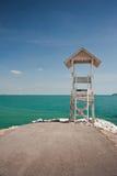 Lifeguard station and blue sky. Empty lifeguard station and blue sky Royalty Free Stock Photo