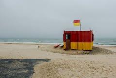 Lifeguard Station at Brittas Bay Royalty Free Stock Images