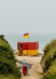 Lifeguard Station at Brittas Bay Stock Photo