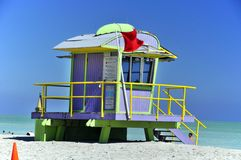 Lifeguard station Stock Image
